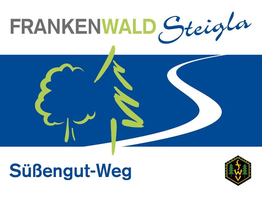 Markierungszeichen FrankenwaldSteigla Süßengut-Weg