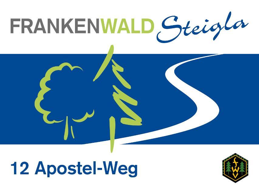 Markierungszeichen FrankenwaldSteigla 12 Apostel-Weg