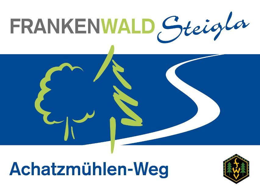 Markierungszeichen FrankenwaldSteigla Achatzmühlen-Weg