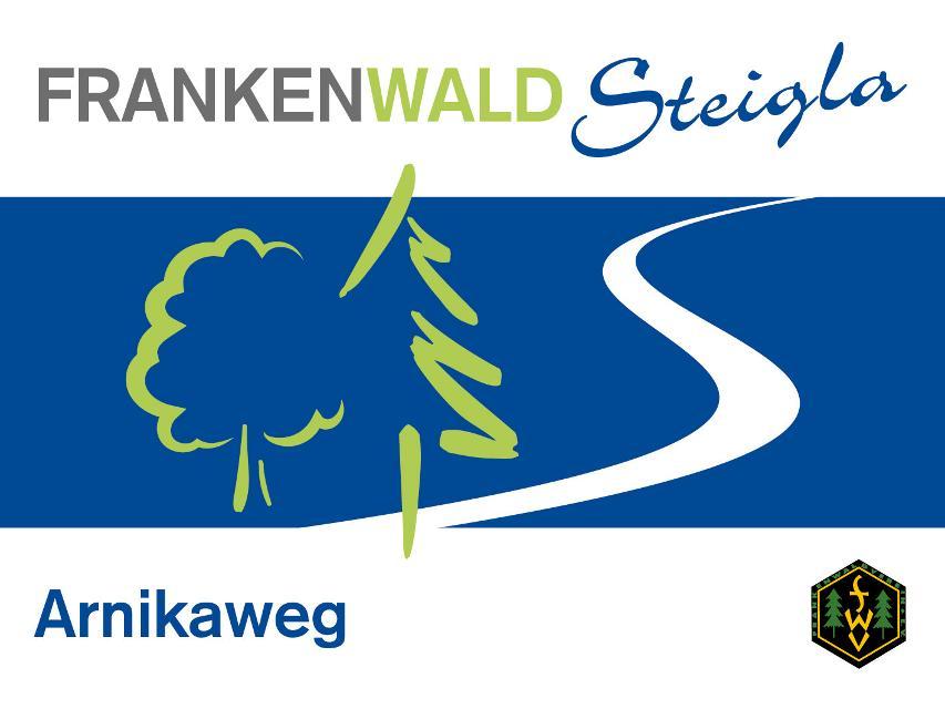 Markierungszeichen FrankenwaldSteigla Arnikaweg