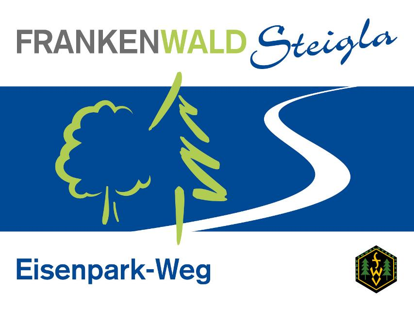 Markierungszeichen FrankenwaldSteigla Eisenpark-Weg