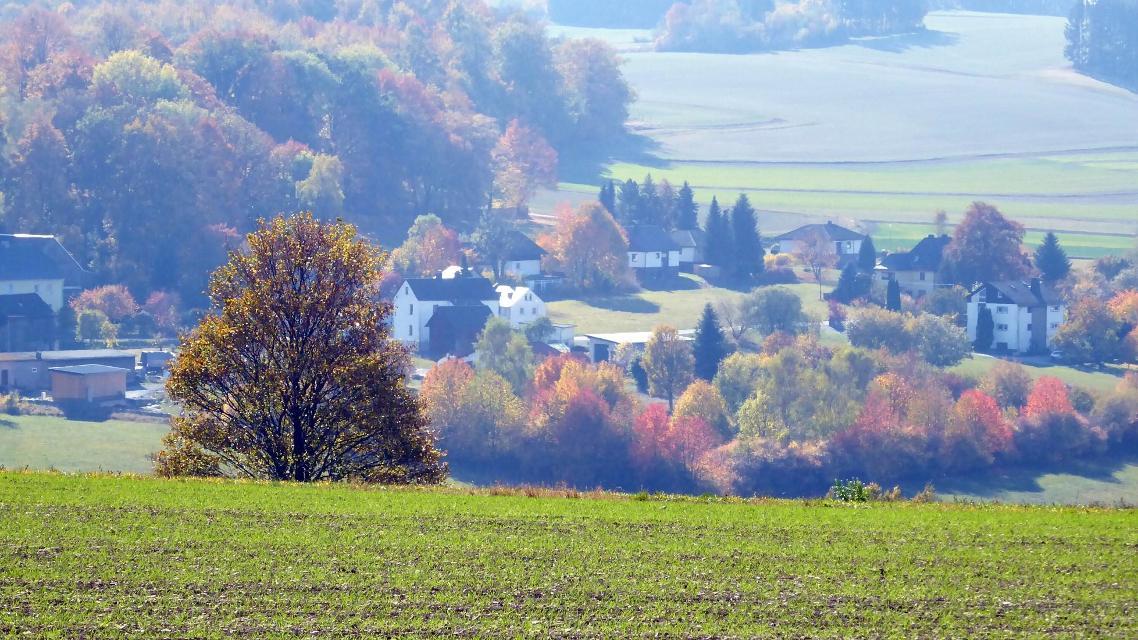 Blick auf Hadermannsgrün