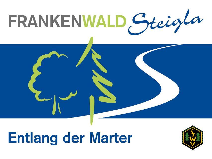 Markierungszeichen FrankenwaldSteigla Entlang der Marter