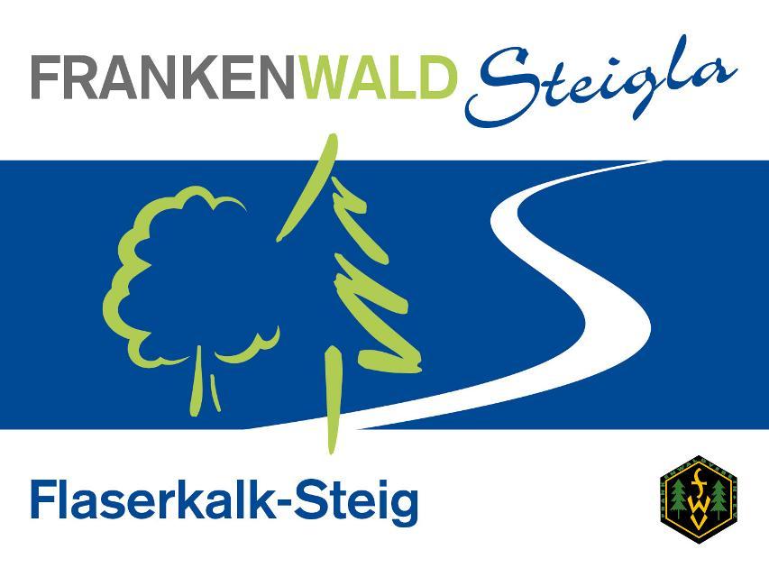 Markierungszeichen FrankenwaldSteigla Flaserkalk-Steig