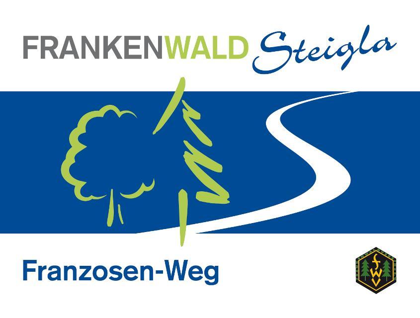 Markierungszeichen FrankenwaldSteigla Franzosenweg