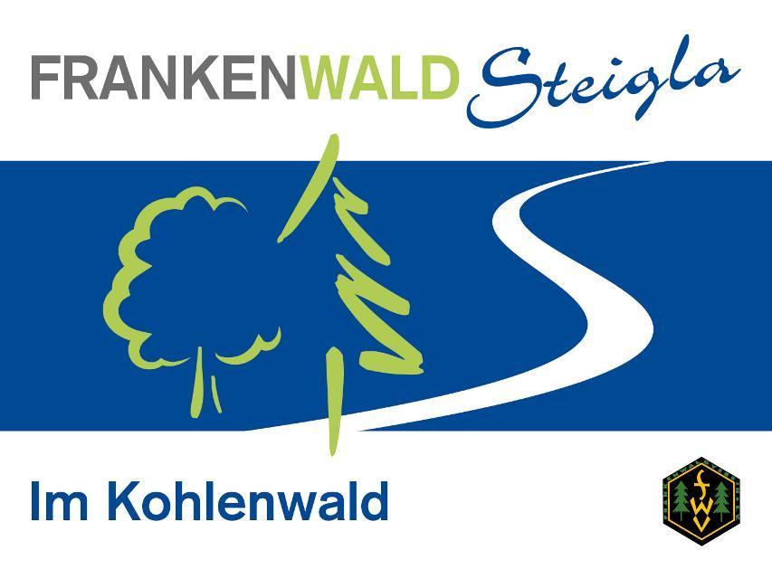 Markierungszeichen FrankenwaldSteigla Im Kohlenwald