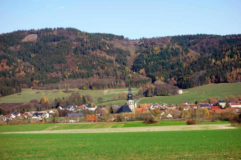 Blick auf Seibelsdorf und Mittelberg