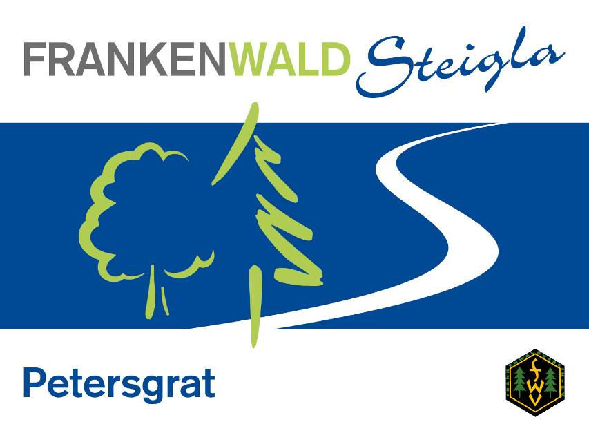 Markierungszeichen FrankenwaldSteigla Petersgrat