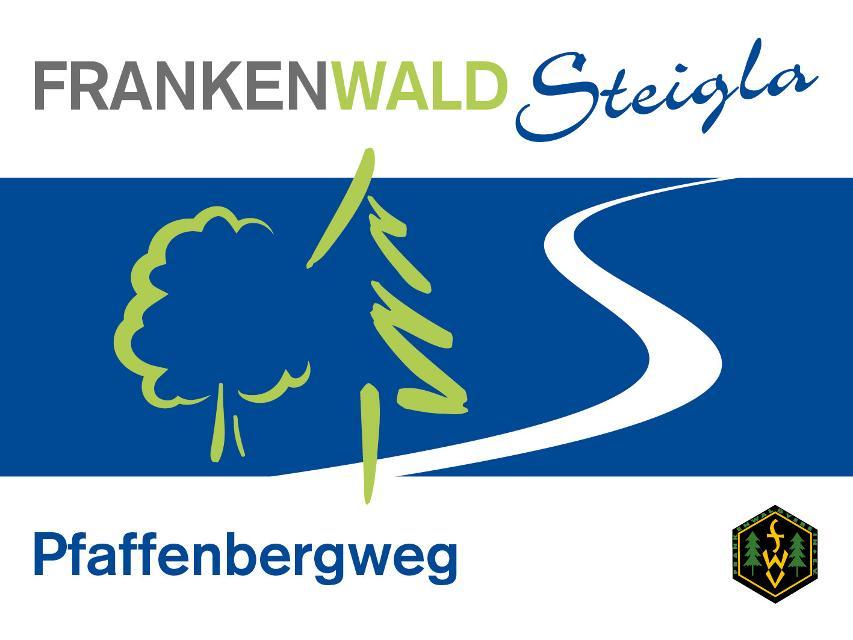 Markierungszeichen FrankenwaldSteigla Pfaffenbergweg
