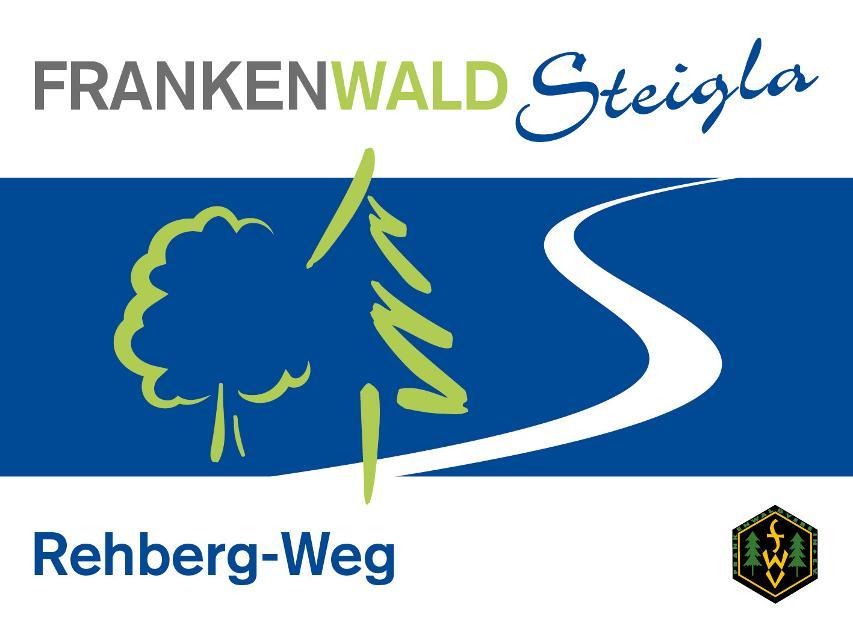 Markierungszeichen FrankenwaldSteigla Rehberg-Weg