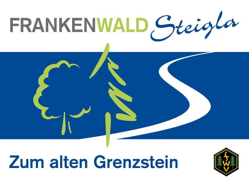 Markierungszeichen FrankenwaldSteigla Zum alten Grenzstein