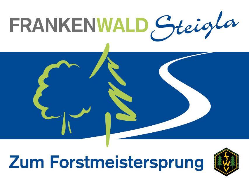 Markierungszeichen FrankenwaldSteigla Zum Forstmeistersprung