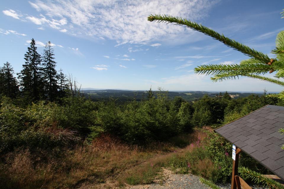 Blick vom Döbraberg Richtung Rodeck