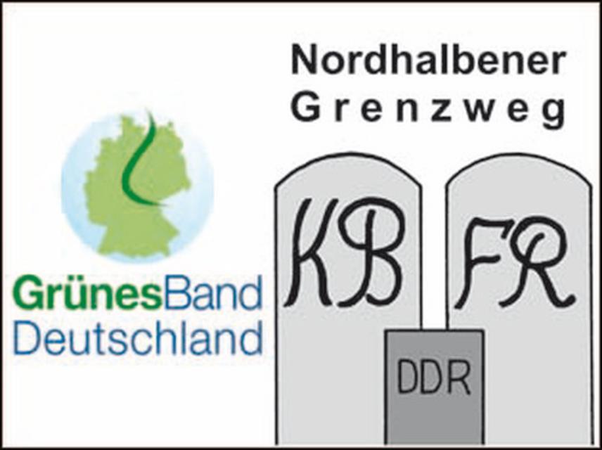Markierungszeichen Nordhalbener Grenzweg