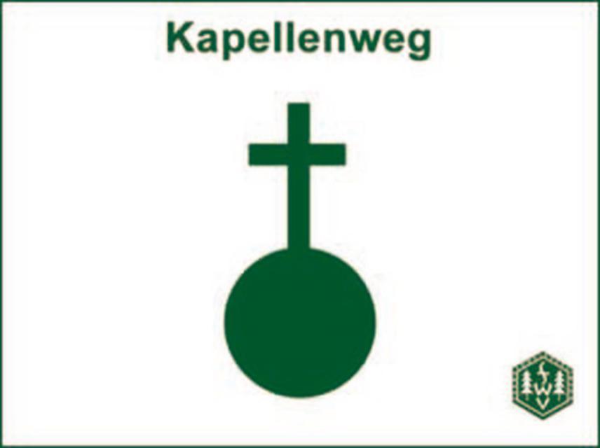 Kapellenweg Markierung