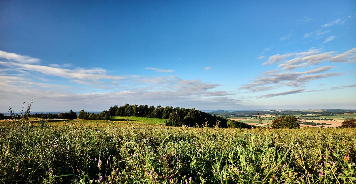 Weite atmen - Blick über den Frankenwald