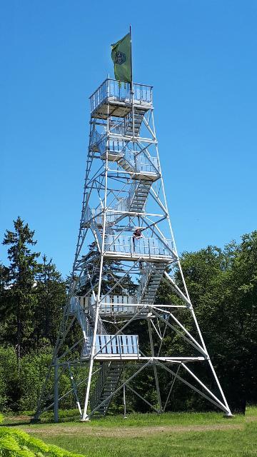 Der Prinz-Luitpold-Turm auf dem Döbraberg
