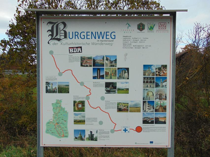 Wandertafel Burgenweg