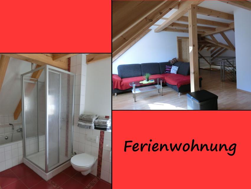 Bad & Wohnzimmer Ferienwohnung Ferienhaus Herrmann