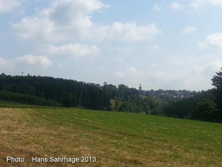 Kurz nach Schwarzenstein: Blick Auf Schwarzenbach