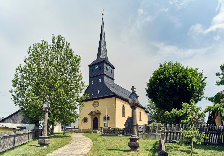 """Wallfahrtskirche """"Maria, Königin der Märtyrer und der 14 heiligen Nothelfer"""" in Haßlach"""