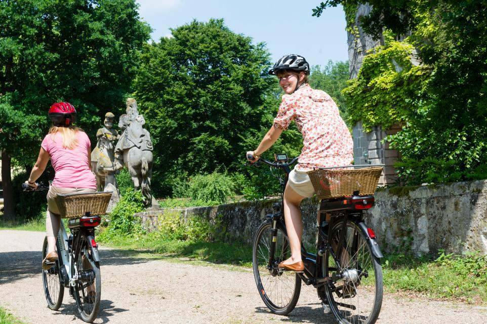 Schloss Friesenhausen als Ziel beim Rad fahren