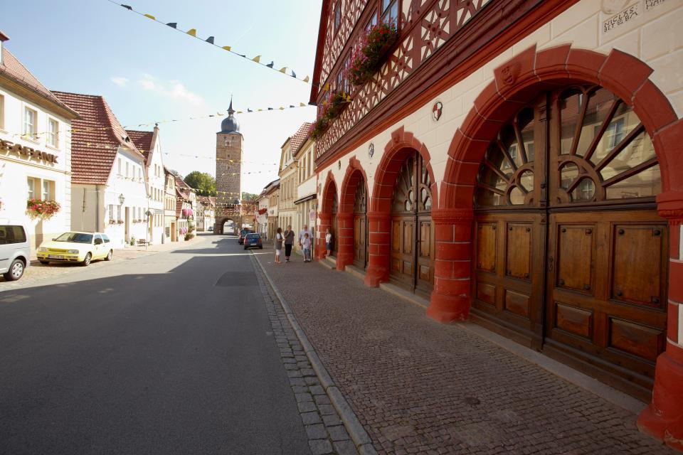 Altstadt Ebern mit Grauturm