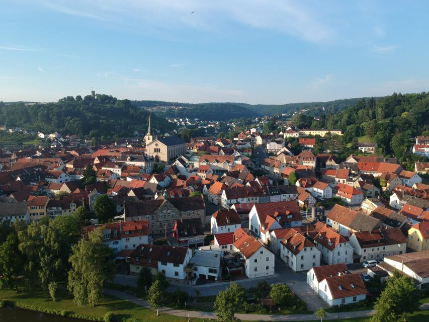 Tolle Aussicht auf die Stadt Eltmann