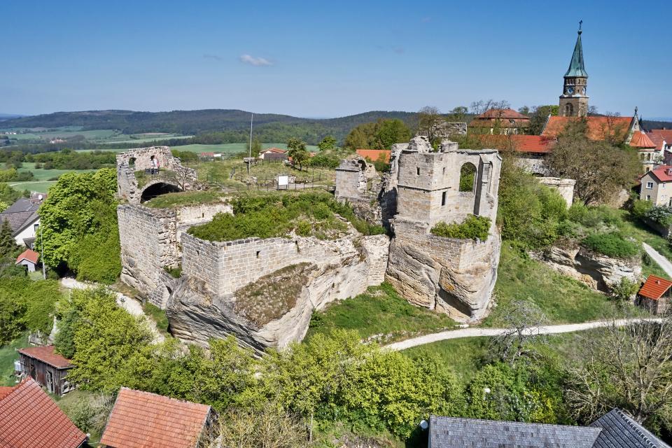 Burgruine Altenstein von oben