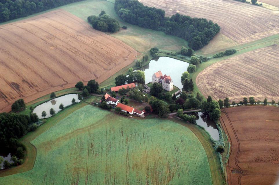 Burgschloss Brennhausen von oben