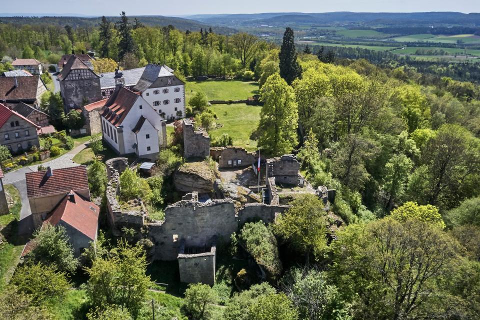 Burg Lichtenstein von oben
