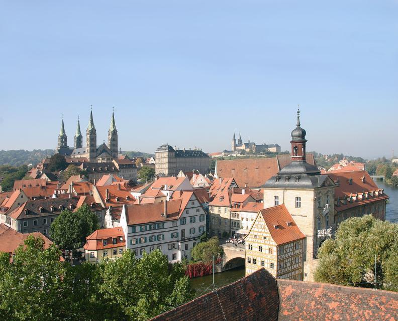 Blick auf Bambergs Bergstadt