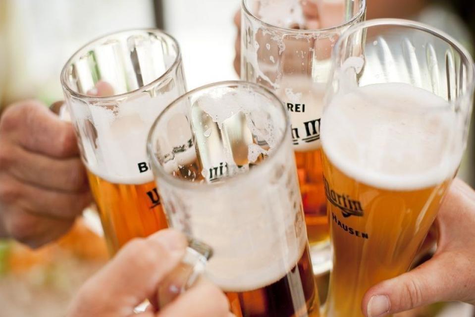 Frisches fränkisches Bier