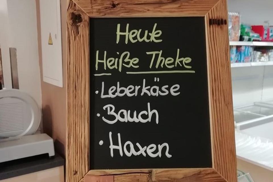 Leckere Angebote im Dorfladen Riedbach