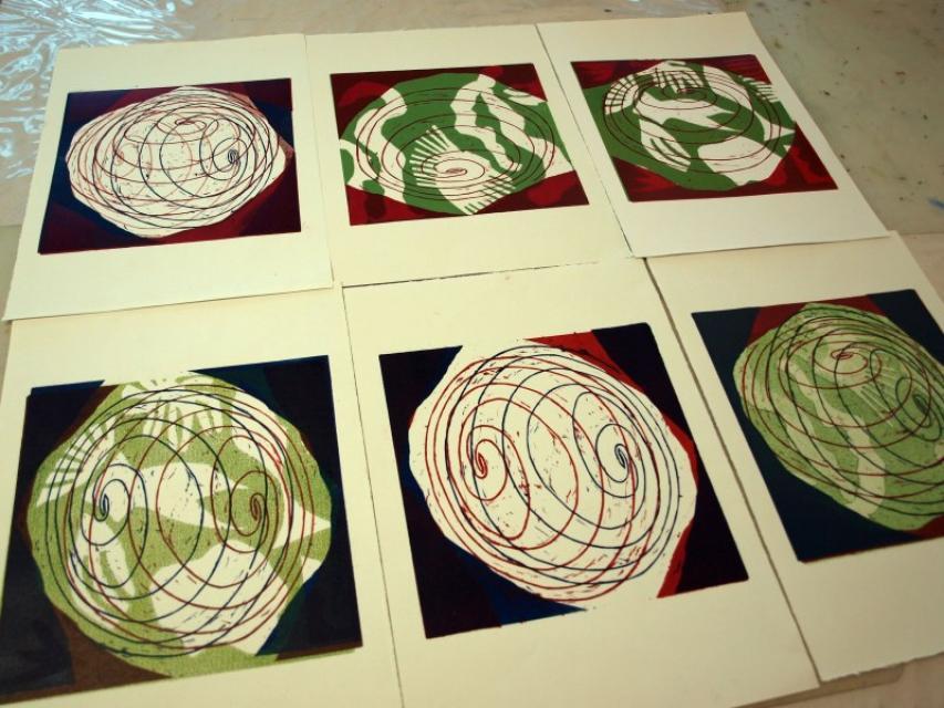 Kunststück: Schneiden und Drucken mit Jannina Hector