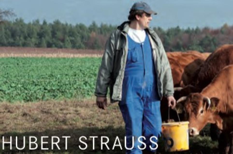 Landwirt und Metzger Hubert Strauß