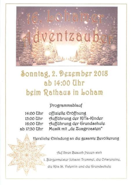 Adventszauber - Christkindlmarkt in Loham - Mariaposching