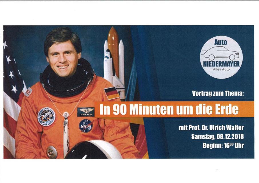 In 90 Minuten um die Erde – Vortrag von Prof. Dr. Ulrich Walter