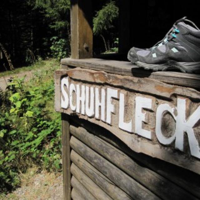 Schuhfleck Wanderwegknoten