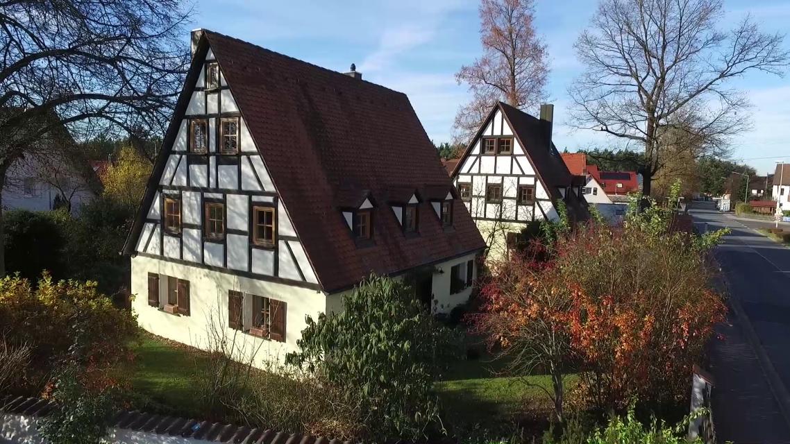 Traditionelle Fachwerkhäuser in Winkelhaid