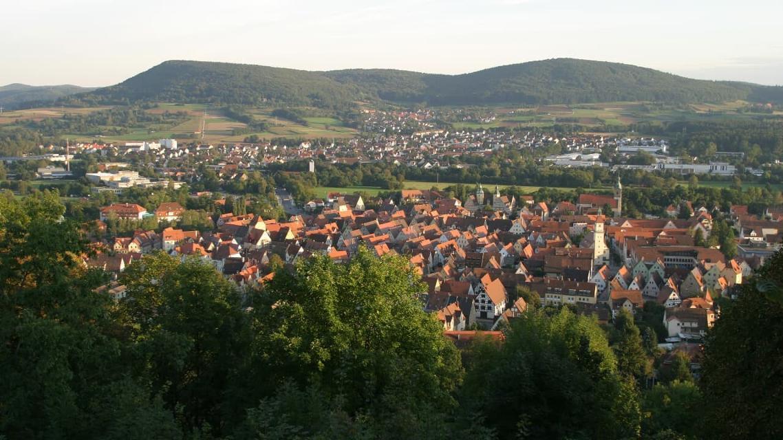 Blick über Hersbruck und die Hersbrucker Schweiz
