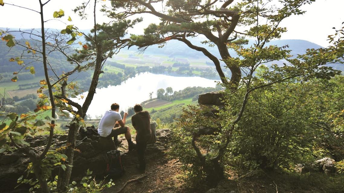 Panoramablick vom Hohler Fels auf der Houbirg