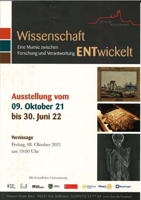 Ausstellung Wissenschaft - Eine Mumie zwischen Forschung und Verantwortung ENTwickelt