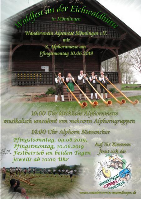 Waldfest mit Alphornmesse
