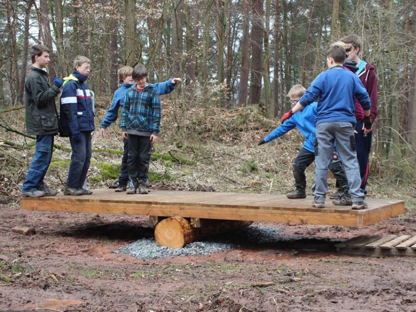 Der Team-Parcours im Königswald bei Mömlingen