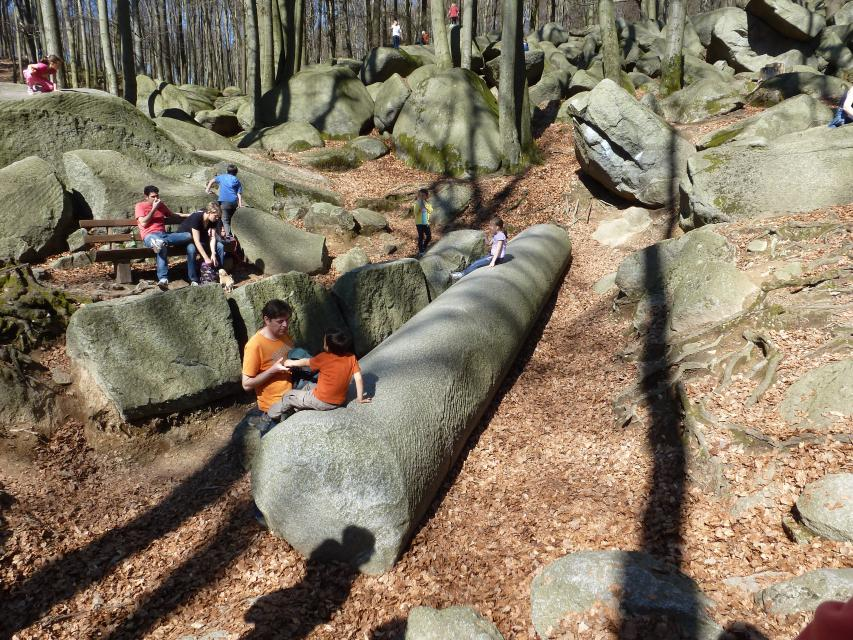 Römischer Steinbruch im Felsenmeer