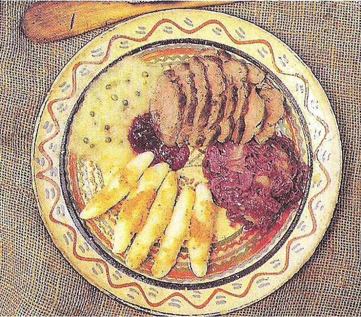 Odenwälder Schupfnudeln mit Apfelsauce und Apfel-Rotkraut