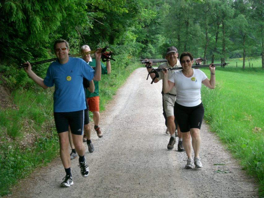 Nordic Walking Tour - Von Finkenbach auf die Hirschhorner Höhe
