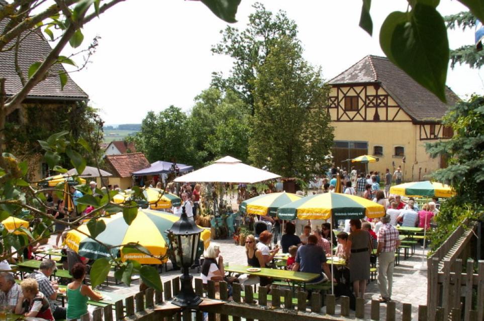 Frankenhöhe Schäferfest im Gutshof Colmberg