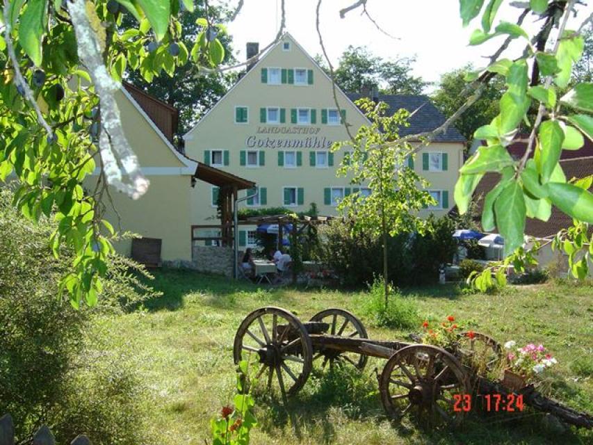 """Camping auf dem Bauernhof - Landgasthof """"Gotzenmühle"""" in Lichtenau"""